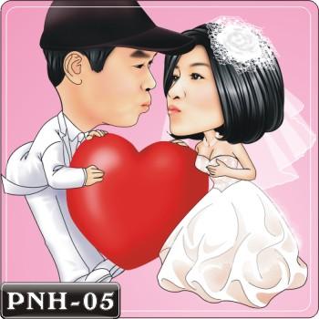 Q版人像繪圖情侶Q版繪圖情侶Q版繪圖PNH-05